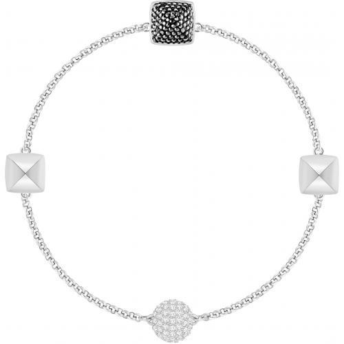 Swarovski Remix Collection Spike Bracelet, Black in Rhodium