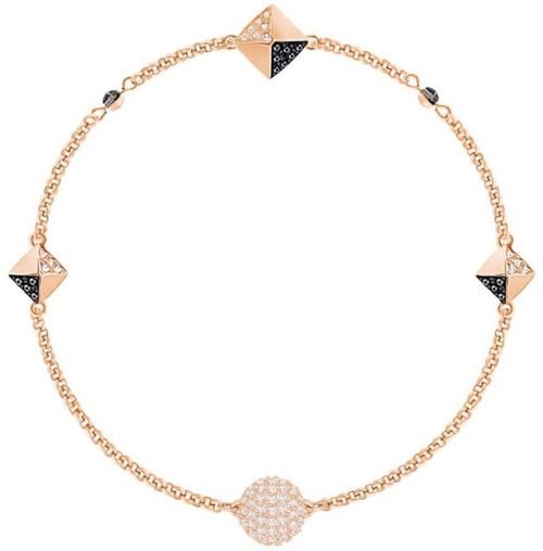 Swarovski Remix Collection Squares Bracelet, Black in Rose Gold