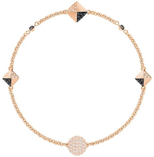Swarovski Remix Collection Squares Bracelet, Black in Rose Gold