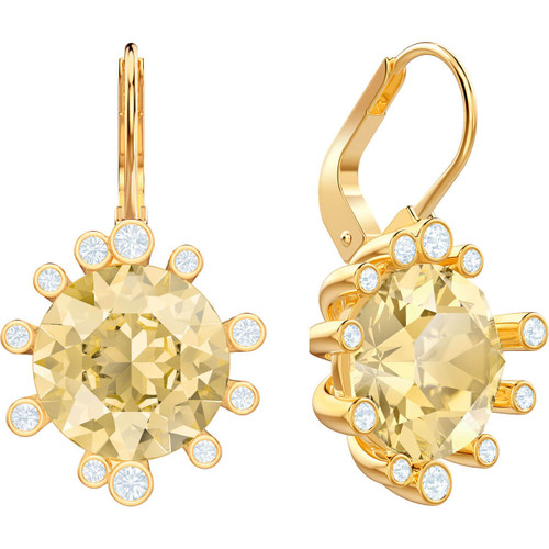 Swarovski Olive Collection Gold Leverback Earrings
