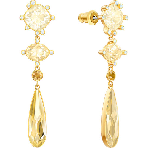 Swarovski Olive Collection Gold Drop Earrings