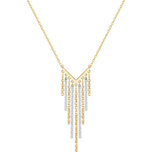 Swarovski Lyrebird Chains Necklace, Gold and Silver Tone