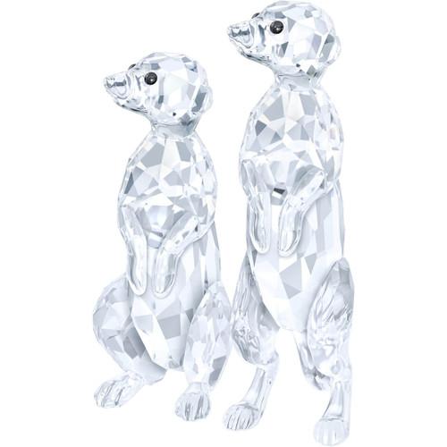 Swarovski Meerkats Crystal Figurines