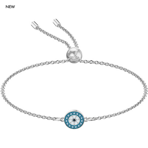 Swarovski Luckily Evil Eye Small Bracelet in Rhodium