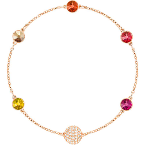 Swarovski Remix Collection Timeless Bracelet with Red and Orange Crystals