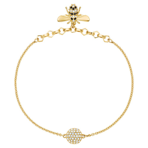 Swarovski Remix Collection Bracelet with Bee in Gold-Tone