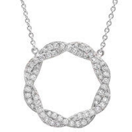 Crislu Twisted Silver Necklace