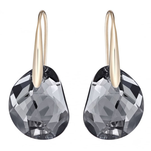 Swarovski Galet Black Pierced Earrings