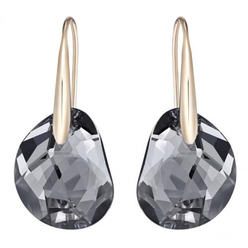 Swarovski Galet Black Pierced Earrings