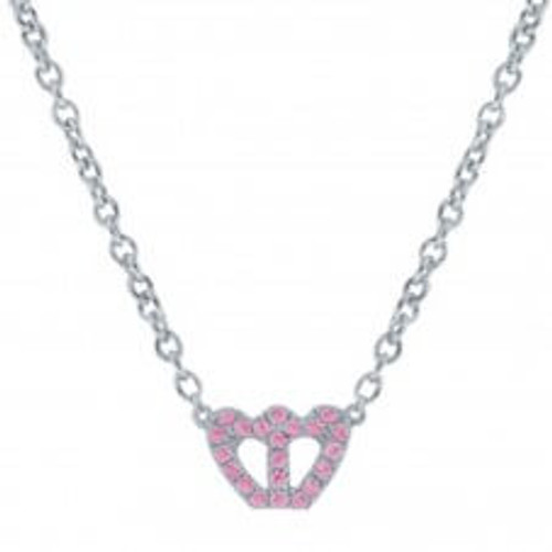 Miss Crislu Crown Pink CZ Necklace