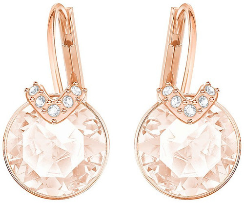 Swarovski Bella V Small Earrings, Soft Pink