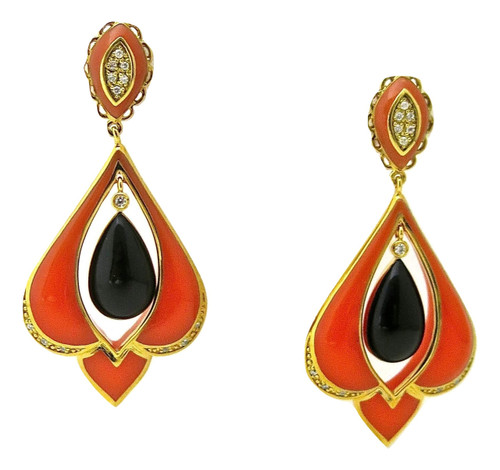 Art Deco Fiocina Drop Earrings