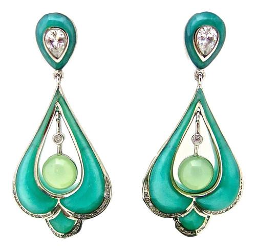 Art Deco Center Drop Earrings