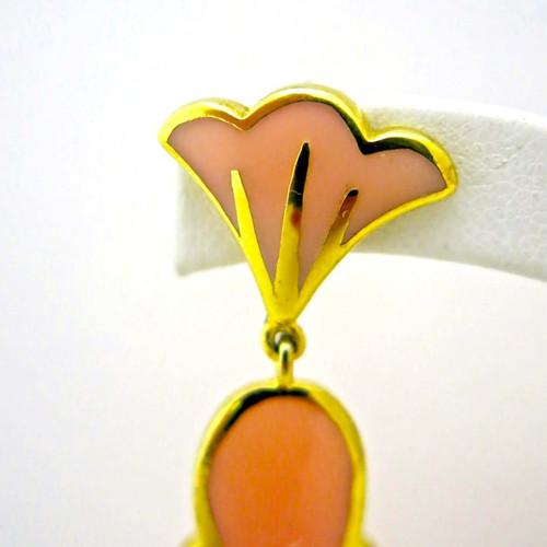 Starburst Earrings, Peach Resin