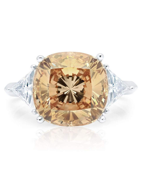 Crislu Champagne Quartz Cocktail Ring