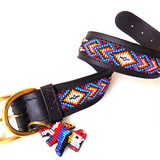 Kiowa Black  Dog Collar from Kenya