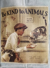 Be Kind To Animals Canvas Tote/ Vintage Addiction