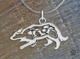 Border Collie Crouch  with sheep  /Sterling Silver