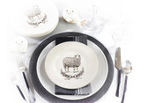 "8"" Sheep Salad Plate  by Saro"