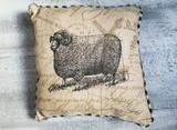 """Linen Pillows / Assorted Farm Animals 14"""""""