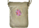 Canvas Crossbody Bag/ Desert Sand Pink Floral / Vintage Addiction