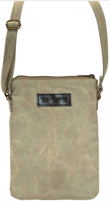 Canvas Crossbody Bag/ Desert Sand Coral / Vintage Addiction
