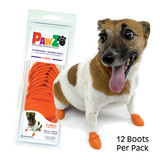 PawZ Dog Boots 12 pack  / X Small Orange