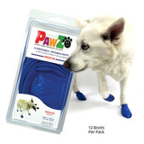 PawZ Dog Boots 12 pack  / Medium Blue