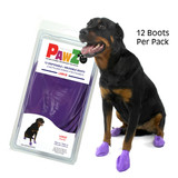 PawZ Dog Boots 12 pack  / Large Purple