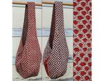 Veggie Dye Sling Reversible Bag/ Semi Circle Red/Black