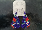 Ole Beaded Earrings/ Purple