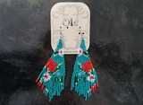 Ole Beaded Earrings/Teal