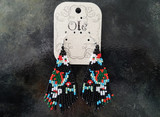 Ole Beaded Earrings/ Black