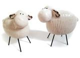 Ceramic Sheep with Metal Legs , set of 2 large