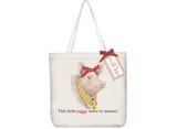 Daisy Pig Square Tote Bag