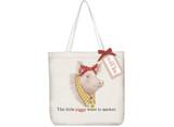 Daisy Pig Square Tote Bag