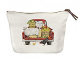Red Truck Farmhouse Canvas Pouch