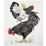 Stacked Chickens Sponge Cloth