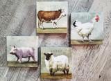 Farm Animals  Giclee Wall Art /Set of 4