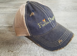 Farm Diggity Hat /Navy / Khaki Distressed
