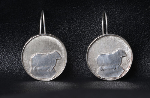 Sterling Silver Sheep Earings