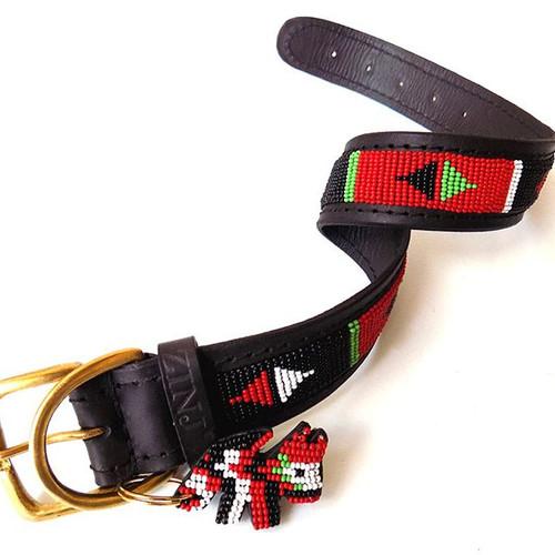 Pokot Black Dog Collar from Kenya