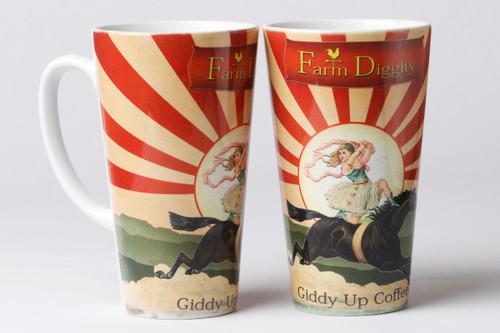 Farm Diggity Giddy up 17oz Latte Mug