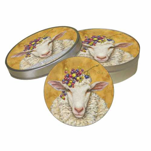 Vineyard Sheep Coaster Set/ Vicki Sawyer