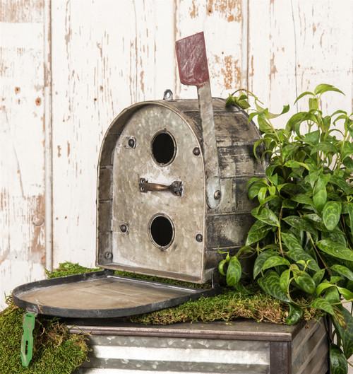 "Metal Mail Box Bird House / 7.75 x 16 x 13.25"" h"