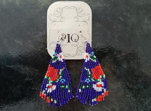 Ole Beaded Earrings/ Purple