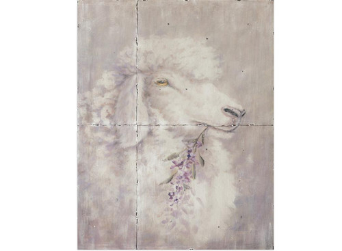 "Wall Hanging - Metal Sheep Painting 36"" H x 26.5"" W x 0.60"" D"