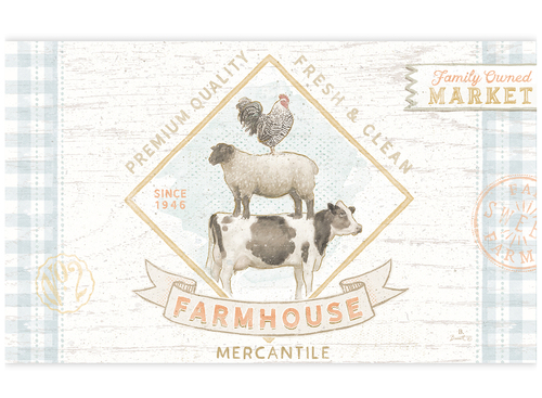 Farm house /Door Mat, Lang