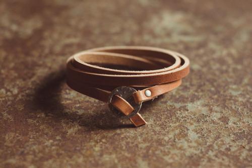 Whitney Leather Wrap Braclet