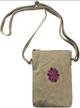 Canvas Crossbody Bag/ Desert Sand Pink Floral / Vintage Addiction